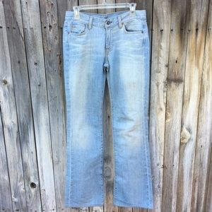 7 For All Mankind Light Wash Bootcut Jeans 28